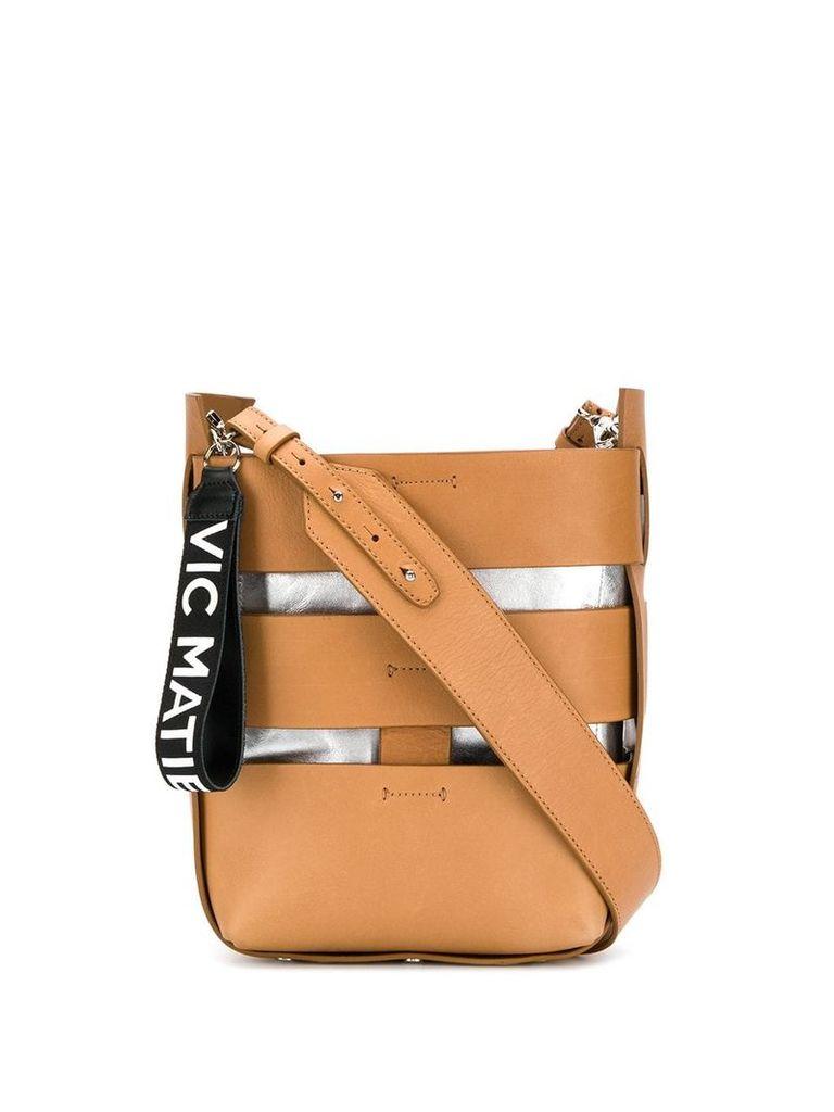Vic Matie cut-out shoulder bag - Brown