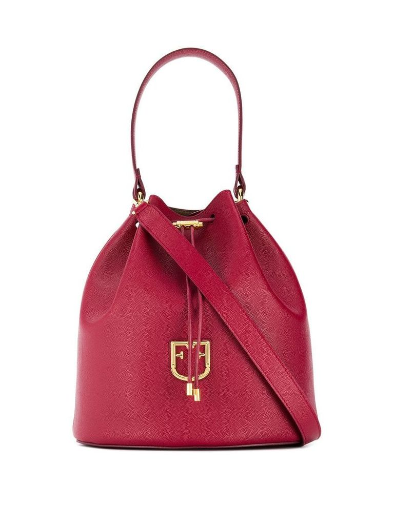 Furla drawstring top tote - Red