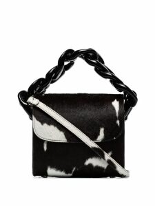 Marques'Almeida cow print shoulder bag - Brown