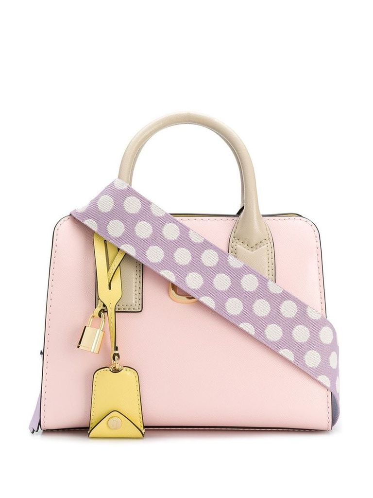 Marc Jacobs Big Shot pastel colourblock tote - Pink