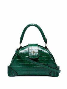 Manu Atelier Demi crocodile embossed cross body bag - Green