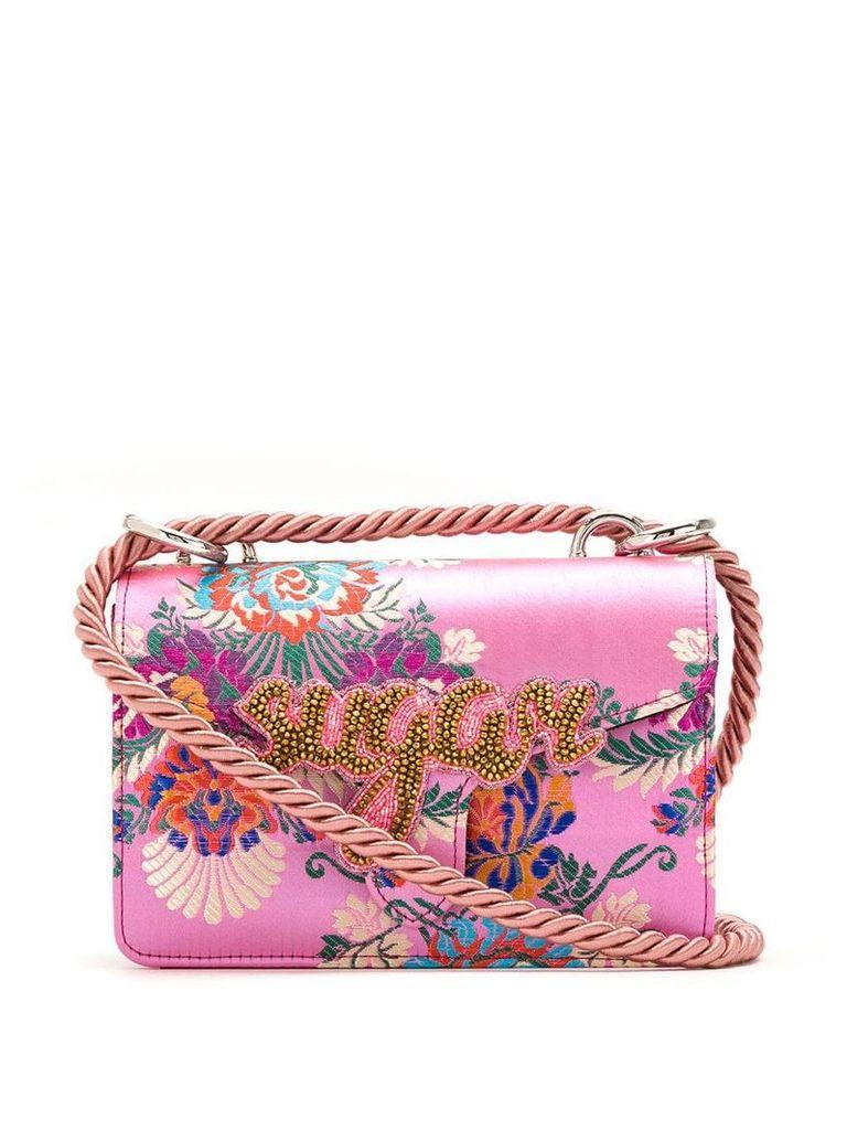 Isla Sugar embroidered shoulder bag - Pink