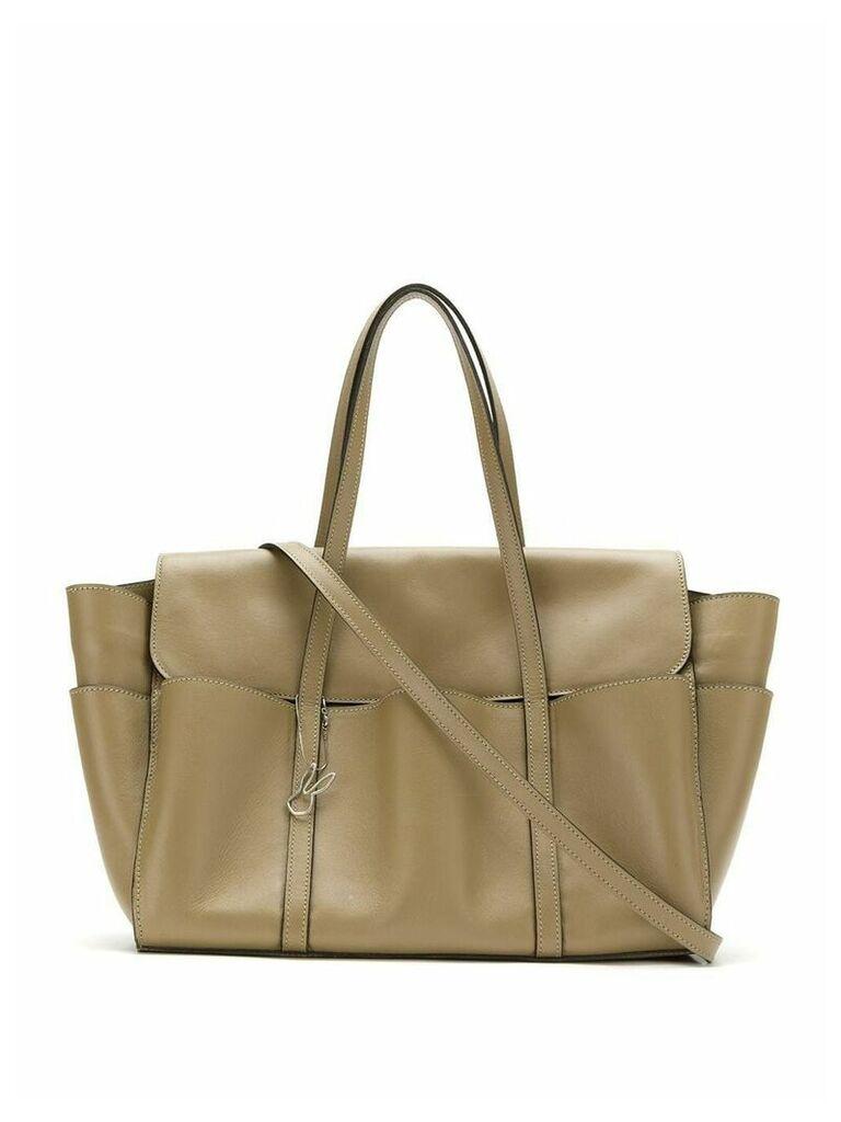 Gloria Coelho leather shoulder bag - Green