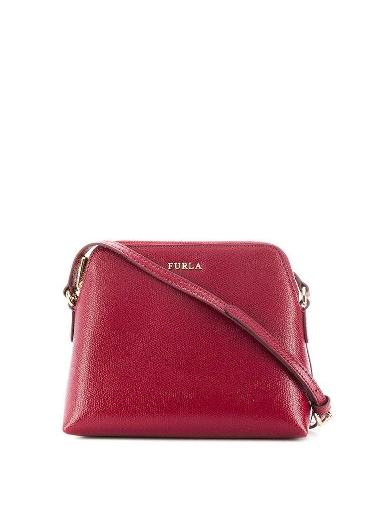 Furla logo plaque crossbody bag - Red
