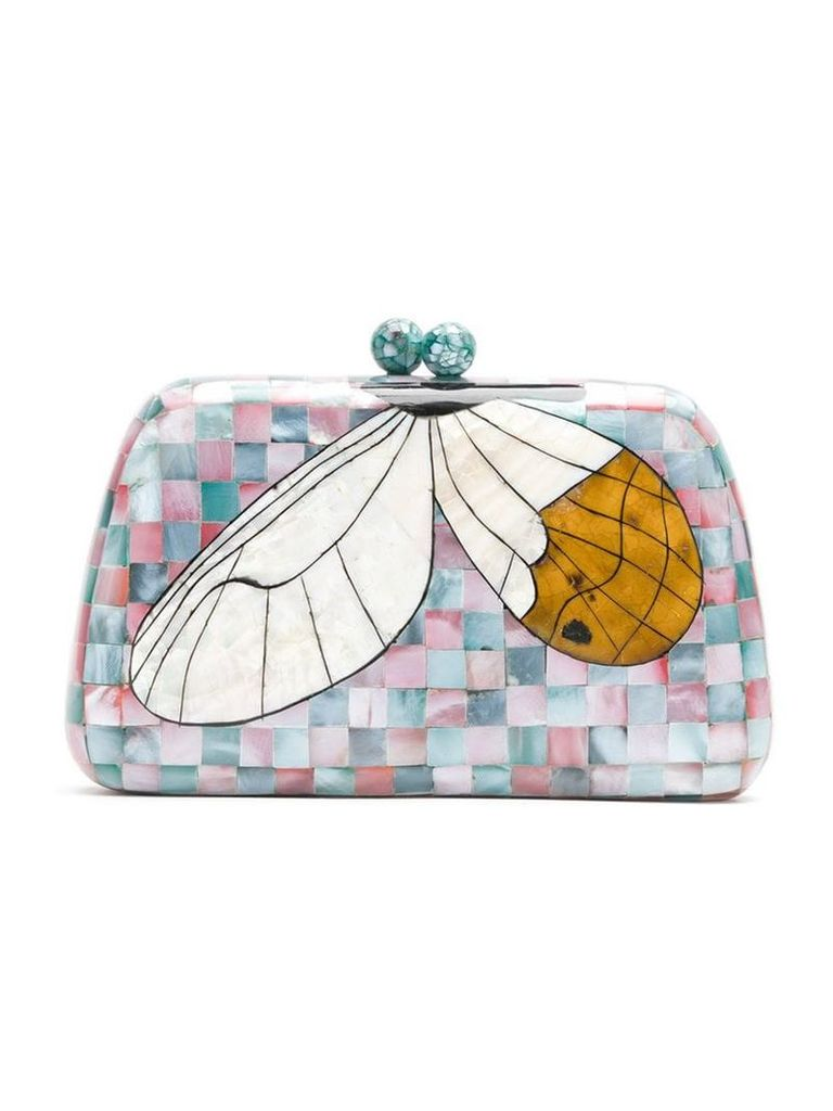 Serpui mother of pearl clutch - Multicolour