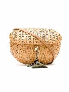 Serpui straw box bag - Neutrals