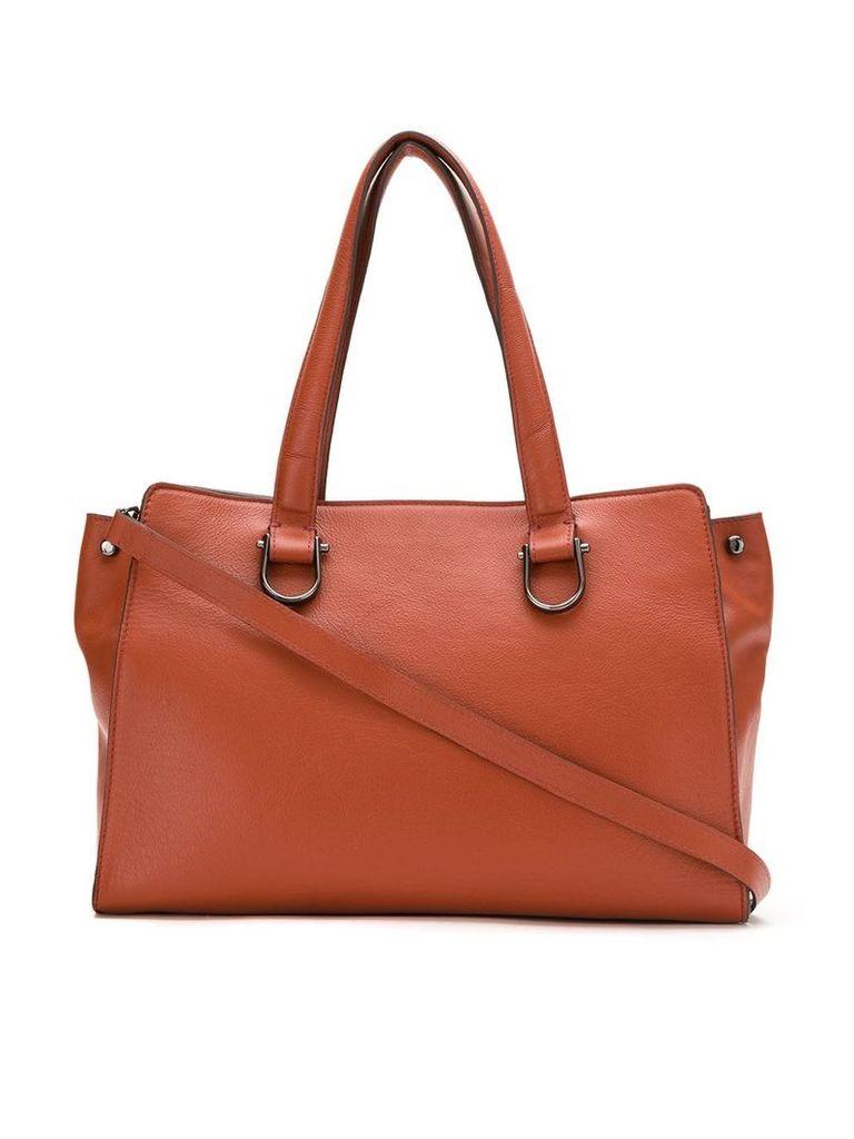 Mara Mac structured leather bag - Brown