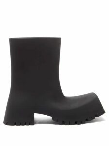 Marques'almeida - Lace Insert Cotton Dress - Womens - Black