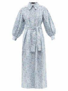 Biyan - Athea Hibiscus Print Silk Dress - Womens - Yellow Multi
