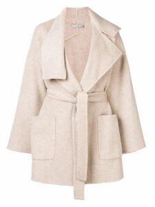Vince belted short coat - Neutrals
