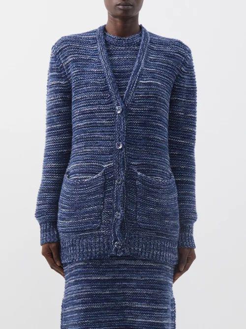 Loewe - Anagram Woven Leather Tote - Womens - Black Multi