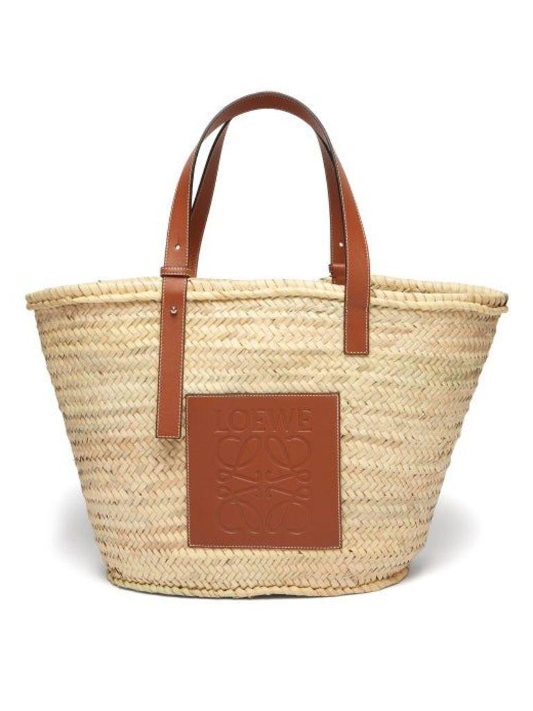 Loewe - Large Woven Basket Bag - Womens - Beige Multi