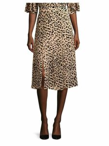 Athena Leopard Midi Skirt