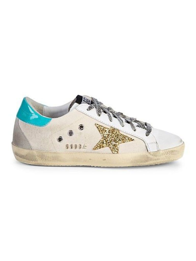 Superstar Glitter Canvas & Leather Sneakers