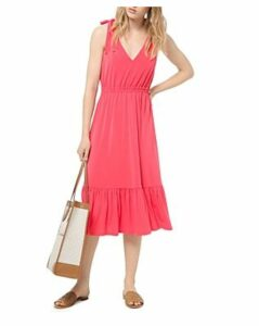 Michael Michael Kors Tie-Shoulder Jersey Midi Dress