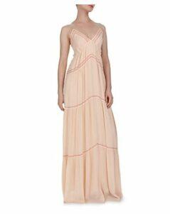 Ba & sh Nadja Tie-Back Tiered Maxi Dress