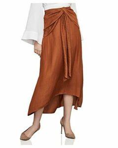 Bcbgmaxazria Twist-Front Charmeuse Slip Skirt