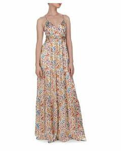 Ba & sh Rosy Cutout Floral Maxi Dress