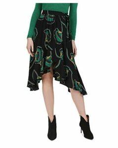 Ba & sh Lena Gingko Wrap Skirt