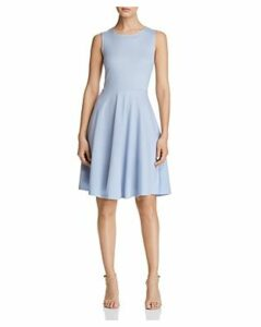 T Tahari Ponte Fit-and-Flare Dress