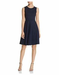 T Tahari Ponte Fit-and-Flare Dress