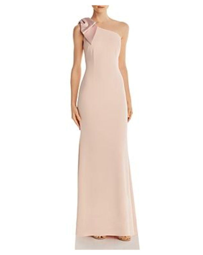 Eliza J One-Shoulder Gown