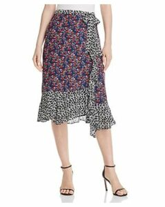 Parker Collins Mixed-Print Skirt