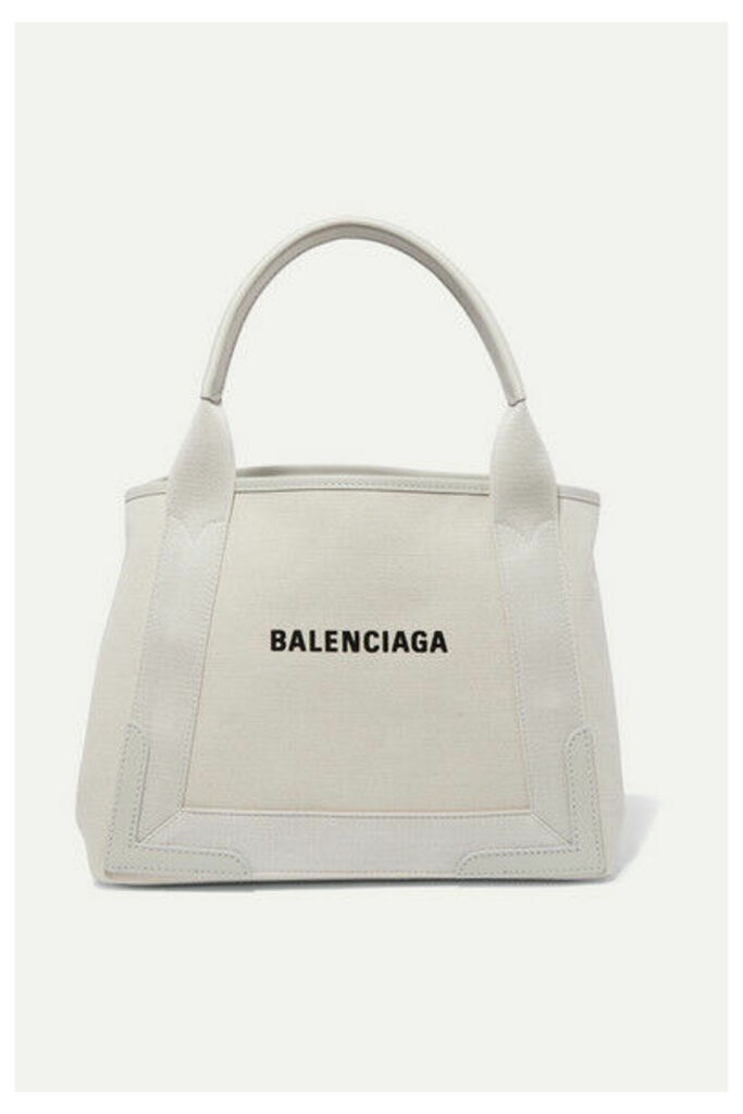 Balenciaga - Cabas Small Leather-trimmed Canvas Tote - Beige