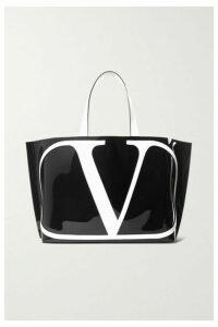 Valentino - Valentino Garavani Vlogo Escape Large Leather-trimmed Pvc Tote - Black