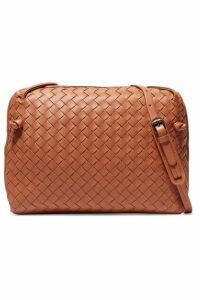 Bottega Veneta - Nodini Small Intrecciato Leather Shoulder Bag - Brown
