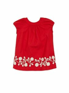 Baby Girl's Embroidered Cotton Dress