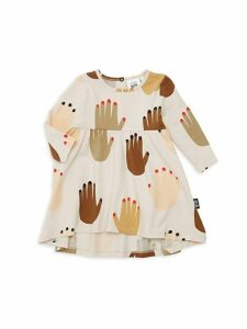 Baby Girl's Hi There Hand-Print Dress