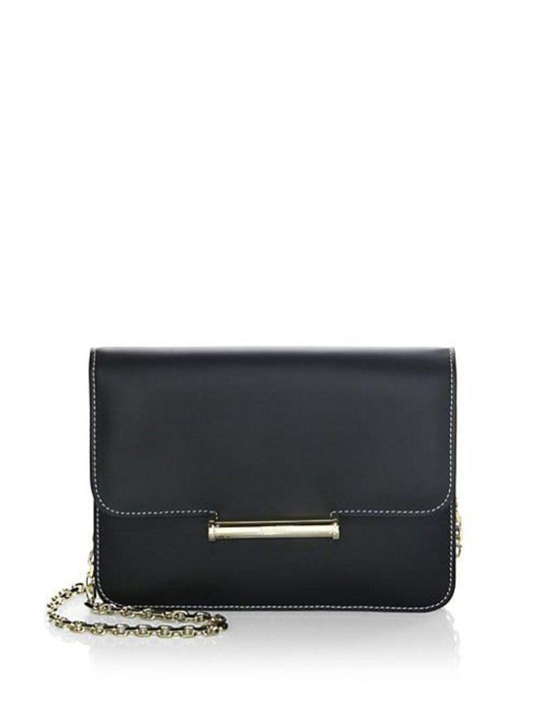 Diane Chain Leather Clutch