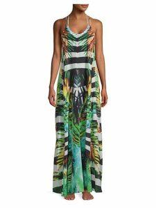 True Colours Tropical Long Cover-Up Dress