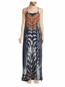 True Colours Print Long Cover-Up Dress