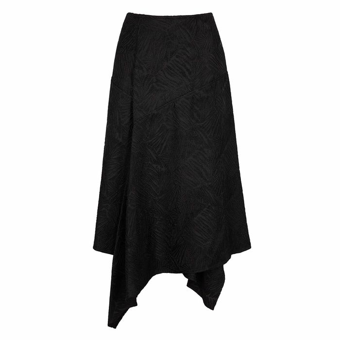 BY MALENE BIRGER Dharma Black Leaf-jacquard Midi Skirt