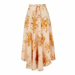 Joie Floral-print Silk-blend Chiffon Midi Skirt