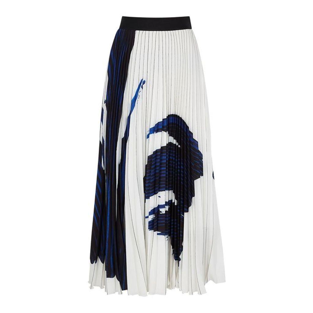 BOSS Vesplisa Printed Georgette Midi Skirt