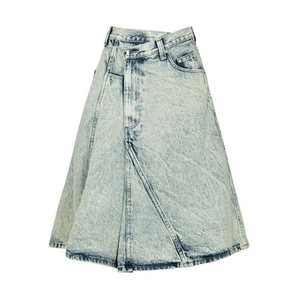 Proenza Schouler Blue Panelled Denim Skirt