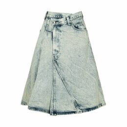 Proenza Schouler Blue Panelled Denim Skirt