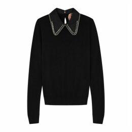 No.21 Embellished Wool And Silk-blend Jumper