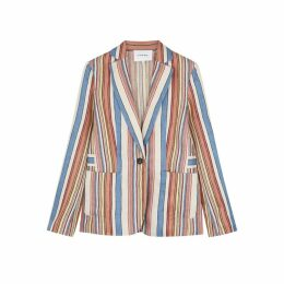 Frame Denim Striped Linen Blazer