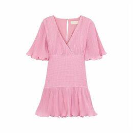 KEEPSAKE Clarity Pink Ruffled Plissé Mini Dress