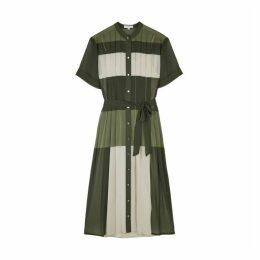 Equipment Mariette Colour-blocked Chiffon Midi Dress
