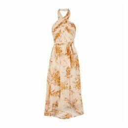 Joie Floral-print Silk-blend Midi Dress
