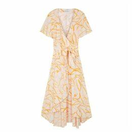 Samsøe & Samsøe Veneto Printed Midi Wrap Dress