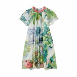 RED Valentino Printed Silk Crepe De Chine Mini Dress