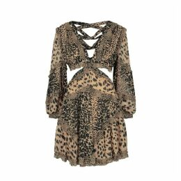 Zimmermann Brown Chiffon Dress