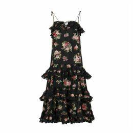 Zimmermann Honour Black Silk Dress