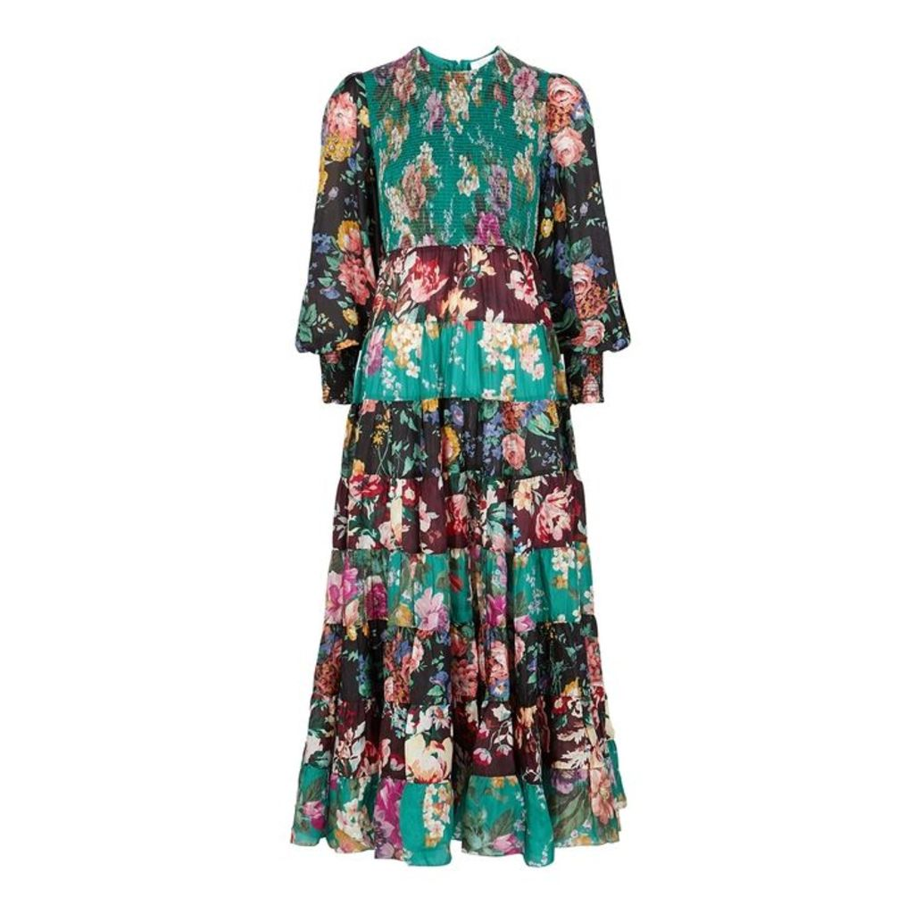 Zimmermann Allia Floral-print Silk Dress